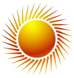 Sun clip-art with warm orange gradient sun icon vector