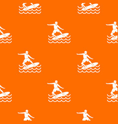Surfer pattern seamless vector