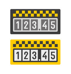 taximeter icon set vector image