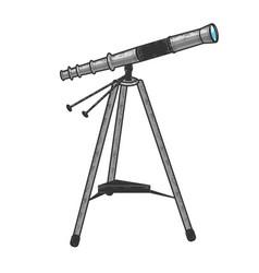 Telescope color sketch vector