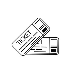 tickets vacation travel icon vector image