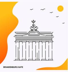 Travel brandenburg gate poster template vector