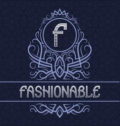 vintage label design template for fashionable vector image
