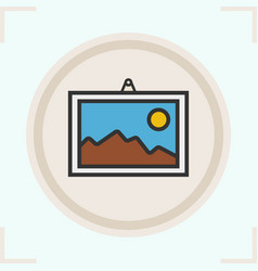 wall painting color icon vector image