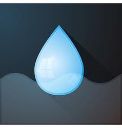 Water Drop on Dark Background vector image