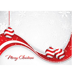 white christmas background vector image