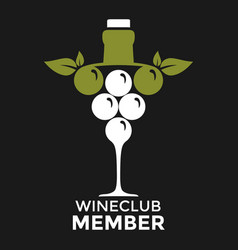 wine club member drink party good vector image