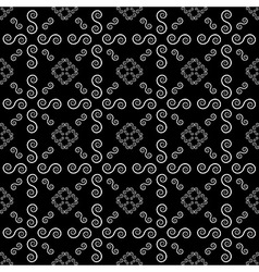 Abstract Line Spiral Background Seamless Pattern vector image