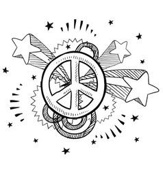 doodle pop peace vector image