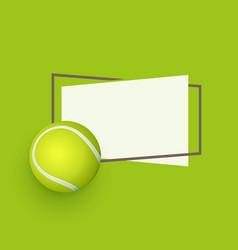 flat cartoon tennis ball banner vector image vector image