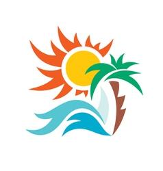 Summer travel vacation logo vector image vector image