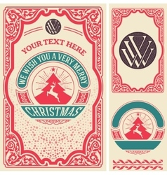 Christmas greeting card background All elements vector image