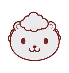 cute sheep face image vector image vector image