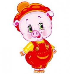 pumpkin patch pig vector image vector image