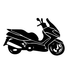 scooter silhouettemax isolated eps 10 vector image