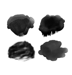 trendy grunge handmade black watercolor vector image
