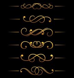 Vintage ornamental embellishments vector image vector image