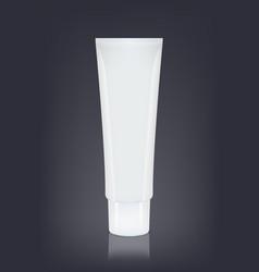 white empty cosmetics cream container vector image vector image