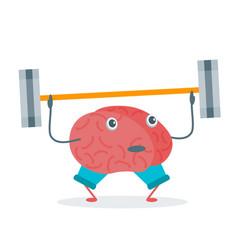 Cartoon brain activity vector