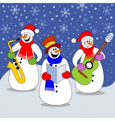 christmas concert vector image vector image