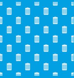 Trashcan pattern seamless blue vector