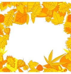 Autumnal seasonal frame vector image