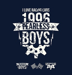Emblem of the fearless riders boys in retro style vector image vector image