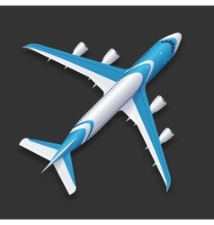 Realistic Airplane Template vector image vector image