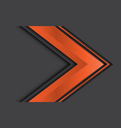 Abstract orange arrow direction on grey design vector
