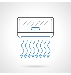 Air cooling equipment flat line icon vector image