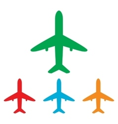 Airplane sign Colorfull set vector image