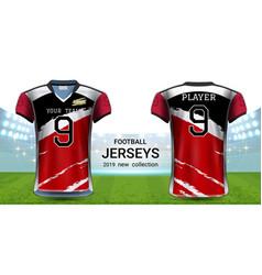 American football or soccer jerseys uniforms vector