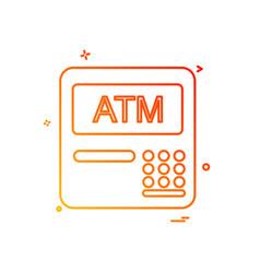 atm machine icon design vector image