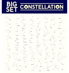 Big set of constellations vector image