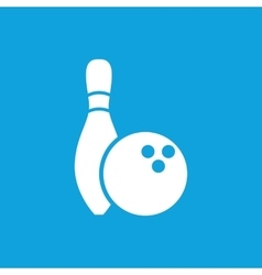 Bowling icon 2 simple vector