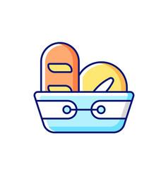 Bread basket rgb color icon vector