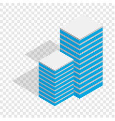 building isometric icon vector image vector image