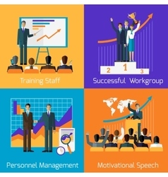 Business Training Success Motivational Managment vector image