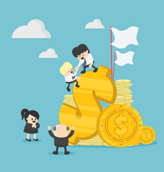 businessman teamwork graphics company vector image