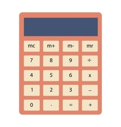 Calculator flat icon sign vector