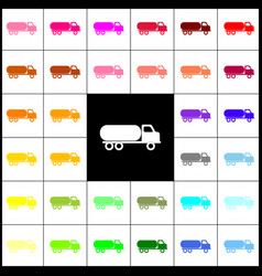 car transports sign felt-pen 33 colorful vector image