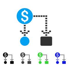 Cashflow scheme flat icon vector