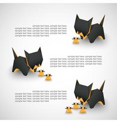 Cat origami vector