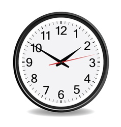 clock black vector image