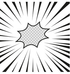 comics flash explosion radial lined superhero vector image