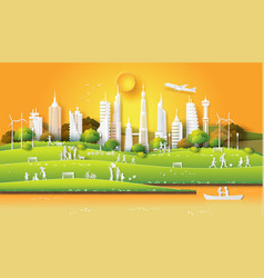 concept of eco friendly vector image