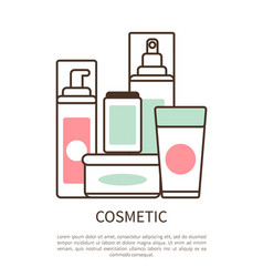Cosmetic set colorful poster vector
