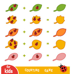 Counting game for children count number vector