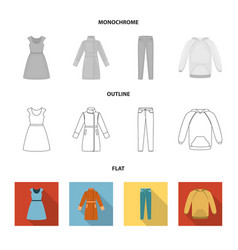 Dress with short sleeves trousers coats raglan vector