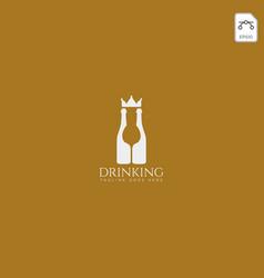 Dring king royal crown logo template vector